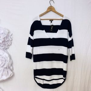 New EXPRESS striped cotton sweater XS